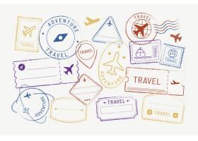 旅行贴纸和徽章套装_15226638