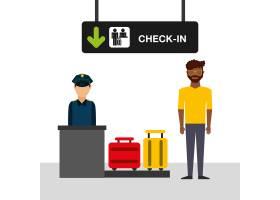 机场概念例证人在机场登记终端_6012183
