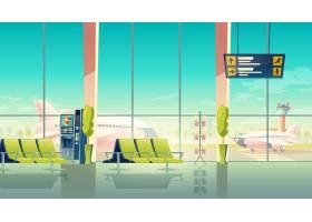 机场等候大厅  在机场的大窗户座位和飞_3519634