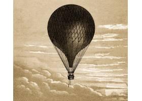 浮动气球葡萄酒例证从原始绘画的混音_16340035