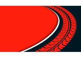 与轮胎轨道轮印刷品的红色背景_15245483