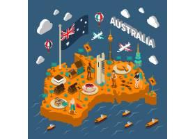 澳大利亚旅游景点等距地图海报_3796649