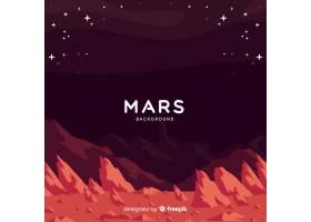 火星与平的设计的风景背景_3272862