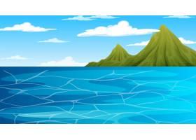 白天风景场面的海洋与山_14443158