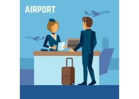 空中小姐和乘客在机场或空姐在终端机场_13153661