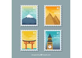 伟大的城市邮票在平面设计_1133978