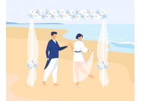 结合结婚在热带岛屿上新郎和新娘在海上的_13146263