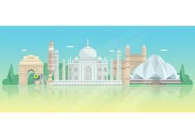印度建筑天际线海报_3982362