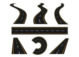 轨道和绕组道路曲线途径_13732403