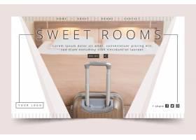 与照片的平的设计hotel水平的横幅模板_13404432