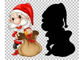 圣诞老人和礼物包_13577313