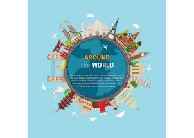 在世界明信片周围旅行旅游和度假地球世_11058737