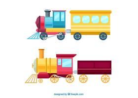 在平的设计的色的玩具火车_1114143
