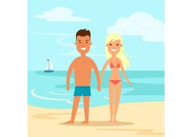 在握在海海滩自然背景传染媒介例证假期的泳_16247466