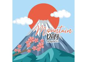 在日本横幅的山日与富士山背景_16262788