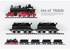 在铁路路模板的货物火车_8314399