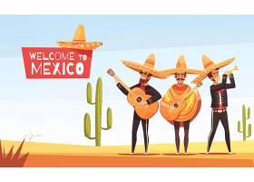墨西哥音乐家例证_5970757