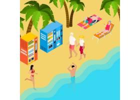 领抚恤金者夫妇在走在海附近的海滩假日等量_15649034