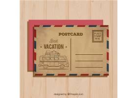 在葡萄酒样式的旅行明信片_2060418