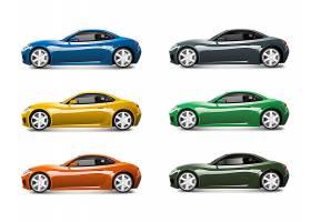 套五颜六色的跑车传染媒介_3602021