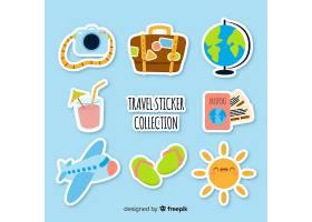 平面旅行贴纸贴纸套装_3717556