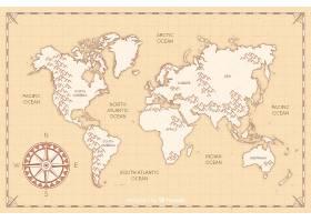 平面设计复古世界地图_5671137