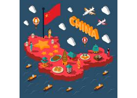 中国旅游等距地图_3796784
