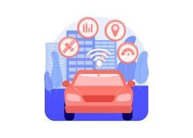 智能运输系统摘要概念传染媒介例证交通和_11667292