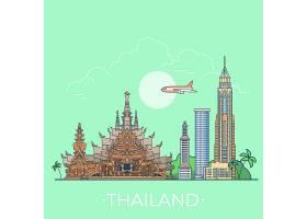 着名展示泰国线性样式传染媒介例证_5724266