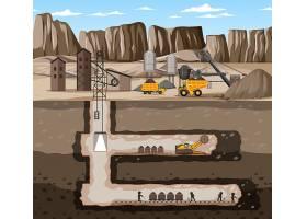 煤矿产业风景与地下_15125855