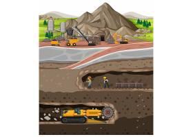 煤矿产业风景与地下_16262958