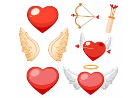 情人节题材与心和翅膀_6829929