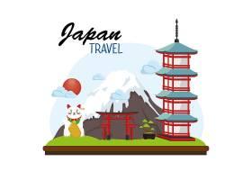 日本旅行海报放置标志_6589376