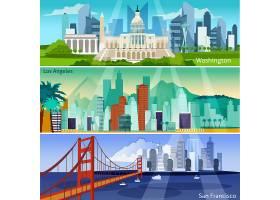美国城市艺术横幅套装_3796392