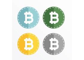 比特币符号图标矢量设计_1324389