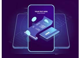 电子支付等距图标用信用卡收到收据在线_4102898