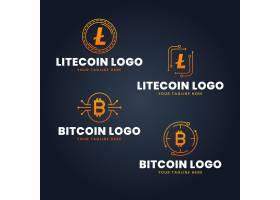 套平的比特币logo模板_14280145