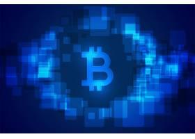 比特币加密技术货币未来派背景_12686027