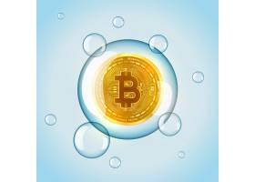 比特币市场泡影概念背景_15244591