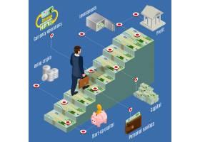 与商人走的等量投资概念走在金钱台阶和不同_10055497