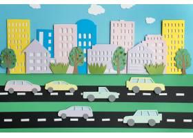 纸张风格分类的城市交通_15421422