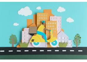 纸张风格分类的城市交通_15421430