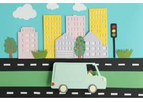 纸张风格分类的城市交通_15421435