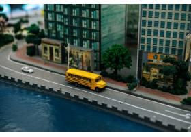 关闭在路的小汽车模型交通构想_6446508