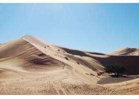 沙丘宽射击在沙漠在一个晴天_7810624