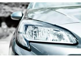 灰色汽车特写镜头车灯_6766384