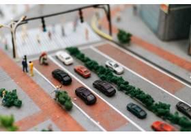 关闭在路的小汽车模型交通构想_6446443