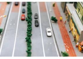 关闭在路的小汽车模型交通构想_6446447
