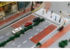 关闭在路的小汽车模型交通构想_6446449