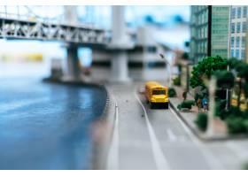 关闭在路的小汽车模型交通构想_6446454